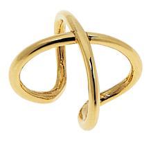 Dieci 10K Gold X-Design Ear Cuff