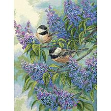 Dimensions Gold Cross Stitch Kit - Chickadees & Lilacs