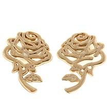 Disney Kids 14K Yellow Gold Rose Stud Earrings