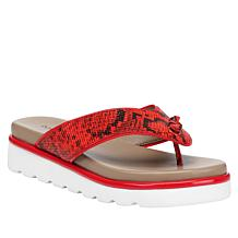 Donald J. Pliner Leaane Leather Fashion Comfort Thong Sandal
