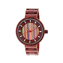 Earth Wood Root Multicolor Dial Wooden Bracelet Watch