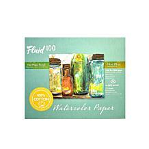 Fluid 100 Watercolor Paper EZ Blocks Hot Press 16 x 20 140 lb.