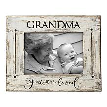 """Foreside Home & Garden Grandma You Are Loved 5x7"""" Wood Picture Frame"""