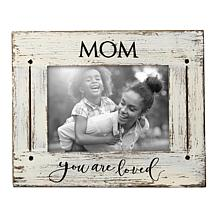 """Foreside Home & Garden Mom You Are Loved 5""""x7"""" Wood Picture Frame"""