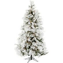 Fraser Hill Farms 9' Flocked Snowy Pine Tree - Smart Lights