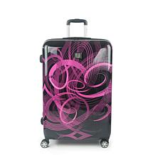 """FUL Atomic 28"""" Expandable Spinner Rolling ABS Hard-case Suitcase"""