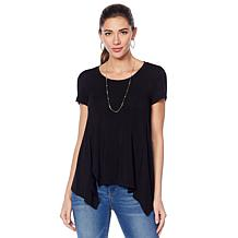 G by Giuliana Fit and Flare Tee with Seaming