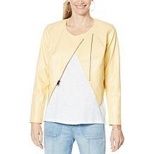 G by Giuliana Lightweight Faux Leather Moto Jacket