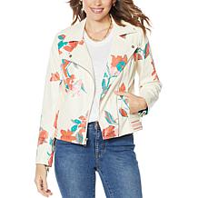 G by Giuliana Perforated Faux Leather Moto Jacket