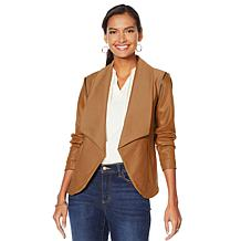 G by Giuliana Twill & Faux Leather Jacket