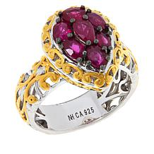 Gems by Michael Burmese Ruby Cluster Ring
