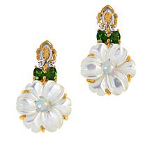 Gems by Michael Mother-of-Pearl and Gemstone Drop Earrings