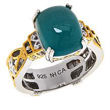 Gems by Michael Sterling Silver Grandidierite Cushion-Cut Ring