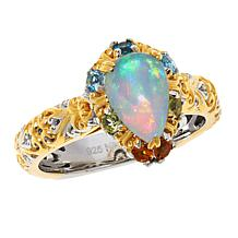 Gems by Michael Valitutti Opal and Multigemstone Pendant with Chain