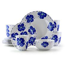 Gibson Home Classic Petals 16-piece Dinnerware Set in Floral Print