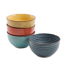 Gibson Home Vibrant Colors 4-piece Cereal Bowl Set