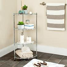 Happimess Damaris 4-Tier Wire Corner Rack - Chrome