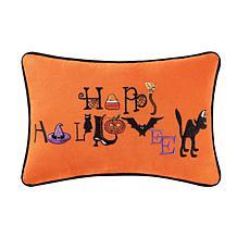 Happy Halloween Pillow Orange