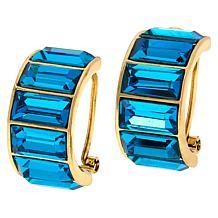 Heidi Daus Beautiful Baguette Hoop Earrings