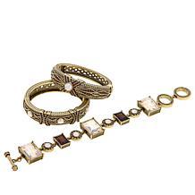 "Heidi Daus ""Conscious Coupling"" 3-piece Bracelet Set"