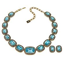 "Heidi Daus ""Exquisite Elegance"" Necklace and Earrings Jewelry Set"