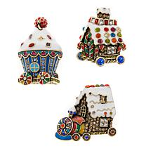 "Heidi Daus ""Holiday Express"" Set of 3 Pins"