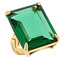 "Heidi Daus ""Hot Rocks"" Rectangular Stone Ring"
