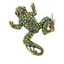 "Heidi Daus ""Kissing Frog"" Pavé Crystal Pin"