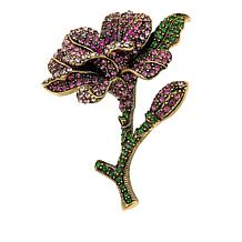 "Heidi Daus ""Mountain Laurel Blossom"" Crystal Pin"