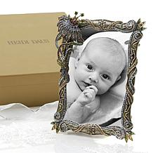 Heidi Daus Multicolor Crystal Floral Swirl Photo Frame