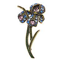 "Heidi Daus ""My Iris Garden"" Crystal Pin"