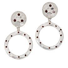 "Heidi Daus ""New Wave"" Crystal-Accented Circle Drop Earrings"