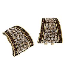 "Heidi Daus ""Say It With Style"" Crystal Half Hoop Earrings"