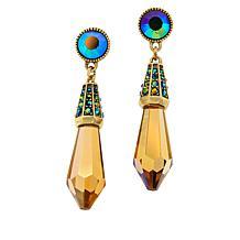 """Heidi Daus """"Shades of Sparkle"""" Crystal Drop Earrings"""