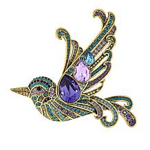 "Heidi Daus ""Wingin' It"" Crystal Bird Pin"