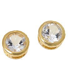 "Herkimer Mines ""Diamond"" Quartz 7mm Round Stud Earrings"