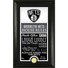 "Highland Mint ""House Rules"" Bronze Coin Photo Mint - Brooklyn Nets"