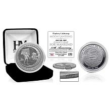 "Highland Mint Moon Landing ""Giant Leap for Mankind"" Silver Mint Coin"