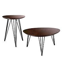Holly & Martin Bannock Table Set - Dark Tobacco w/Black