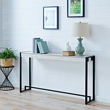 Holly & Martin Macen Narrow Console - Distressed White/Black