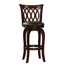 Home Origin Swivel and Scroll-Back Counter Height Chair