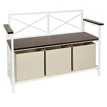 Home36 Collapsible Metal Storage Bench