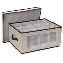 Household Essentials Canvas Balloon Stemware Storage