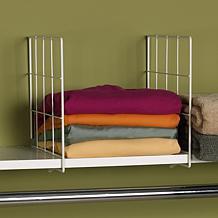 Household Essentials Set of 2 Shelf Dividers - White