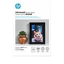 "HP 100-Sheet Advanced Glossy 4"" x 6"" Photo Paper"