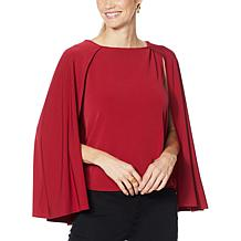 IMAN Global Chic Caped Shell