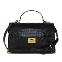 IMAN Global Chic Polished to Perfection Croco-Embossed Bag