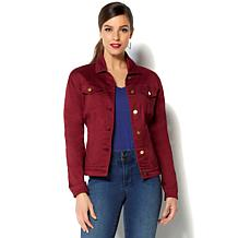 IMAN Perfect Fit Comfort Stretch Premium Denim Jean Jacket