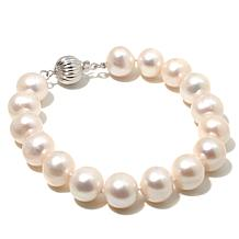 "Imperial Pearls 10-11mm Cultured Pearl Sterling Silver 7-1/2"" Bracelet"