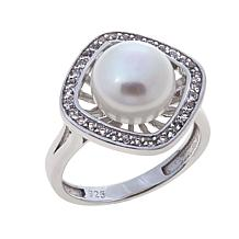 Imperial Pearls 9-10mm Cultured Pearl and Topaz Ring
